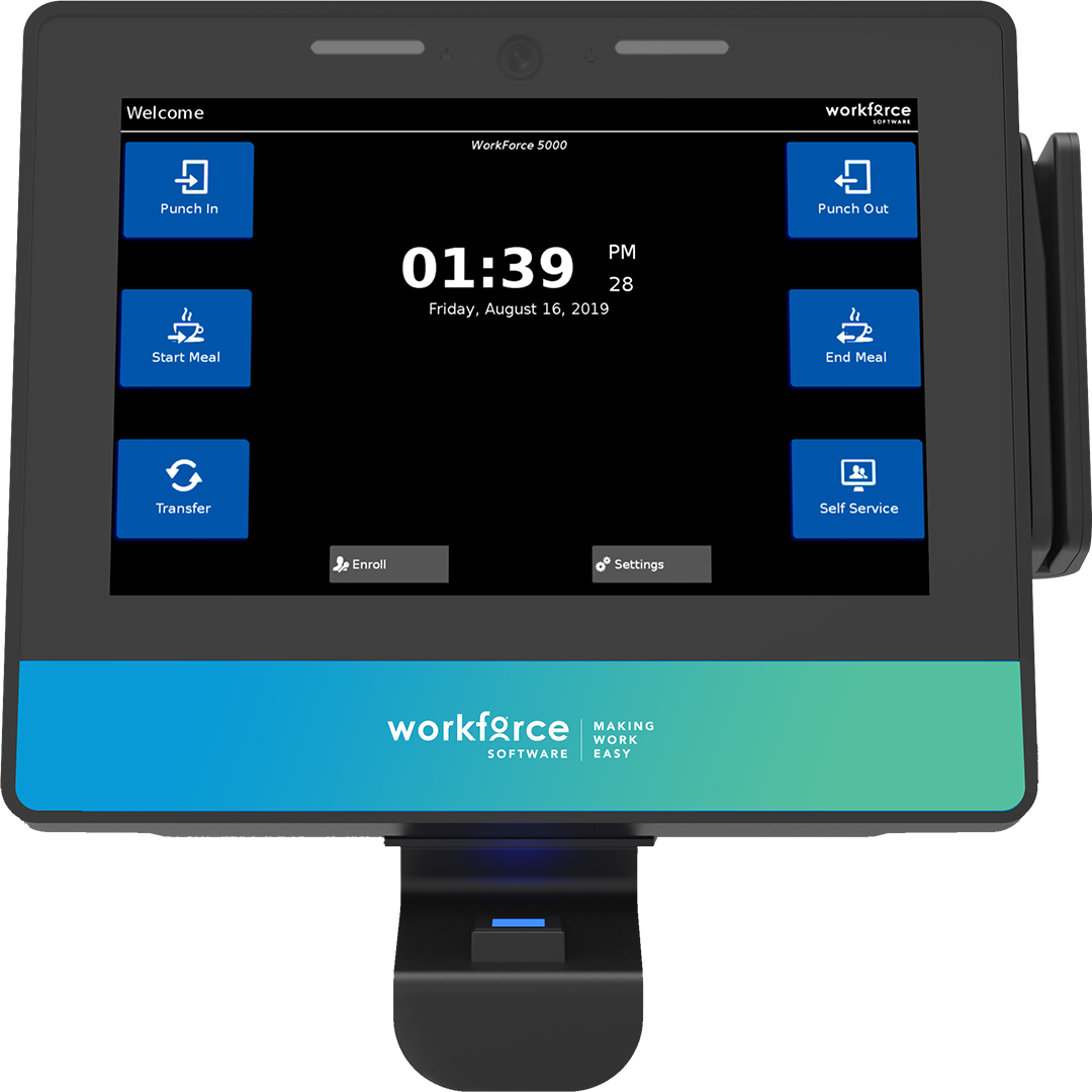 WorkForce 7100 Time Clock