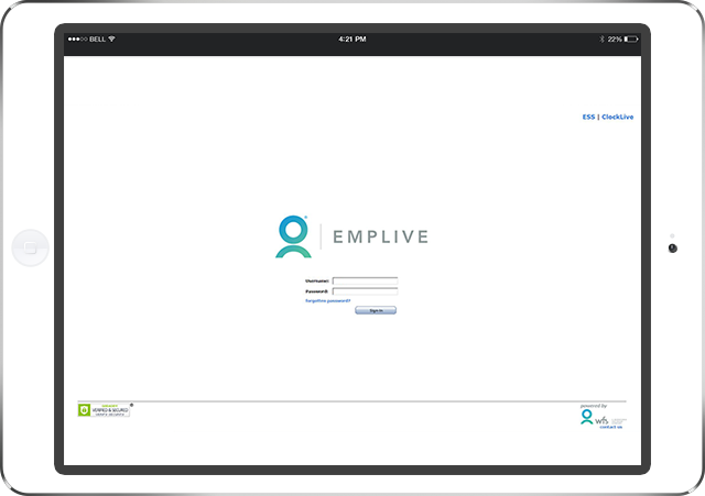 EmpLive Web Clock